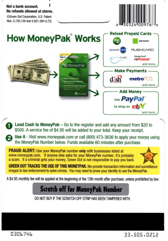 beware new moneypak scam ccpd blotter - Prepaid Cards That Accept Moneypak