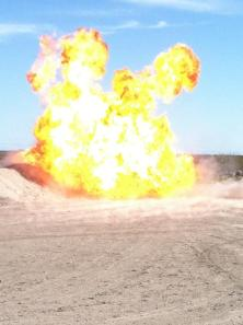 This picture was taken by a Corpus Christi Police Bomb Technician during a demonstration for the 71st Police Academy Session