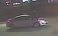Vehicle operated by the suspect in counterfeit case.