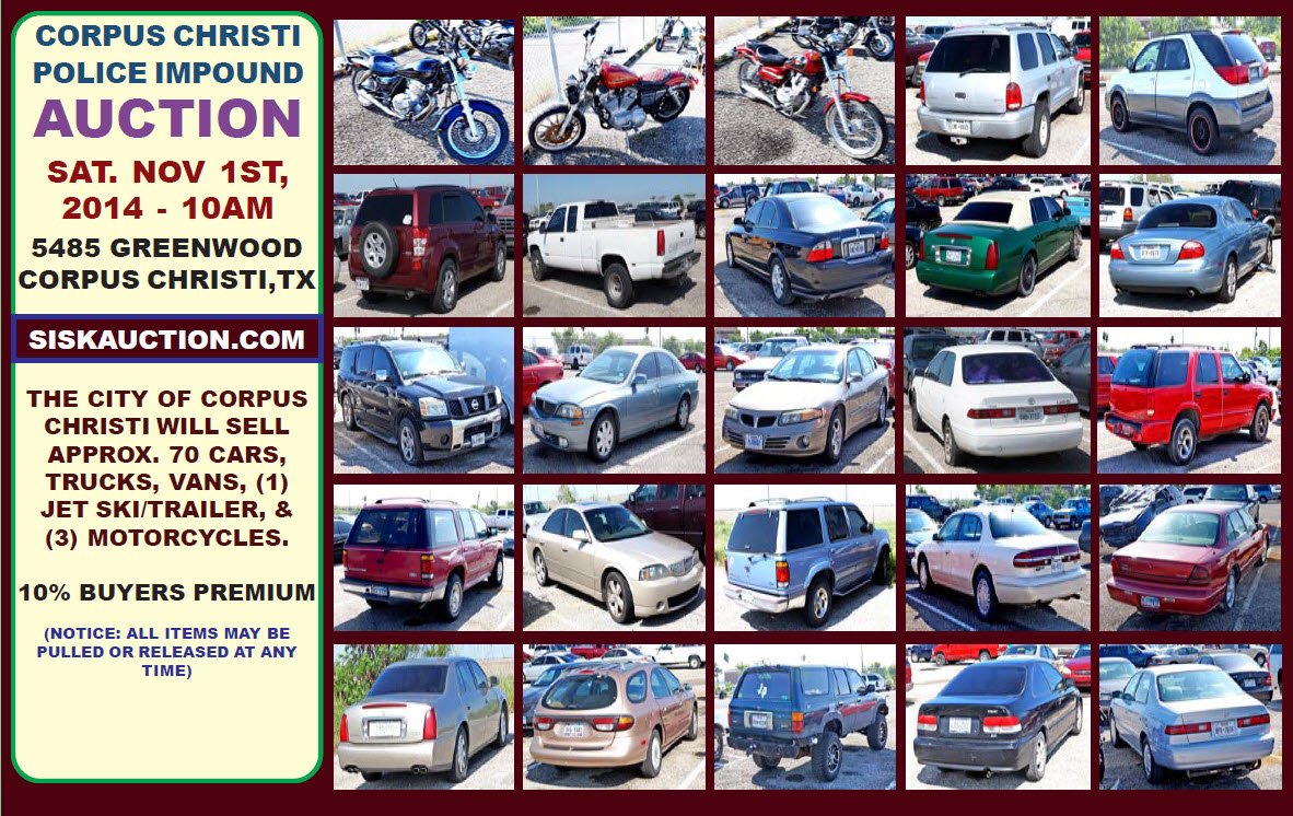 Police Impound Auction >> Ccpd Monthly Auto Auction Ccpd Blotter