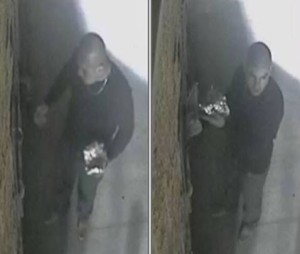 Police seek help from the public to identify this burglar who broke into a coin operated machine on Taco Tuesday