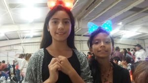 12 year old Katherine Fonseca (left) and 10 year old Stephanie Fonseca