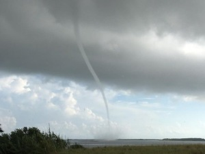 Water spout in Oso Bay (photo by Senior Officer Denise Pace)
