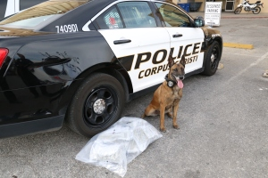 Tanja with 6 pounds of marijuana seized on a traffic stop Wednesday afternoon.